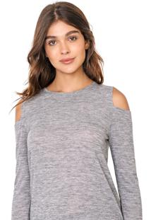 Blusa Gap Off Shoulder Cinza