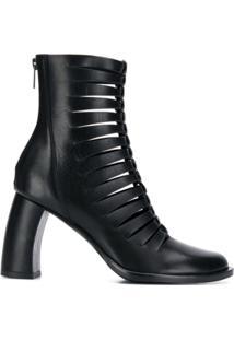 Ann Demeulemeester Ankle Boot Com Recorte Vazado - Preto