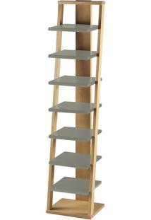 Prateleira Suspensa Stairway 1132 Palha/Cinza - Maxima