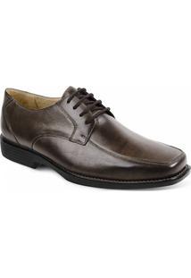 Sapato Social Masculino Derby Sandro Moscoloni Trefford Marrom Escuro