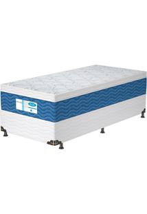 Cama Box Solteiro Prodormir Blue – Probel - Branco / Azul