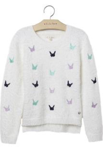 Blusa Le Lis Petit Butterfly Off White Feminina (Dust, 7)