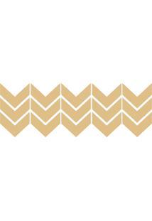Adesivo Decohouse De Parede Dourado