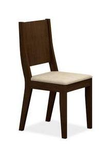 Cadeira Flat Sala De Jantar, Padrao - Castor, Revestimento - Veludo Creme