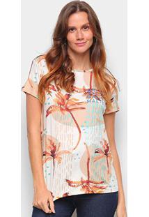 Blusa Lez A Lez Malibu Plus Size Feminina - Feminino-Laranja+Branco