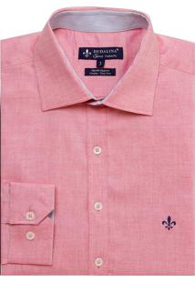 Camisa Dudalina Fit Oxford Leve Masculina (Roxo Escuro, 6)