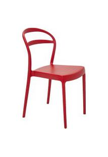 Cadeira Tramontina 92047040 Sissi Suma Com Encosto Vazado Vermelha