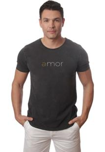 Camiseta Casual Em Agodão 4J Amor - Masculino