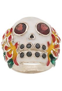 Ktz Skull Ring - Prateado
