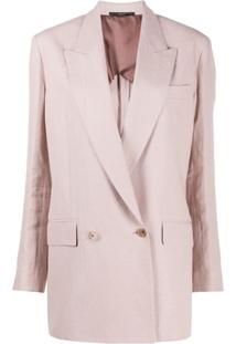 Paul Smith Blazer Com Abotoamento Duplo - Neutro