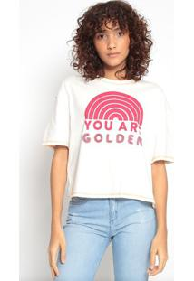 """Blusa """"You Are Golden""""Off White & Vermelhahering"""
