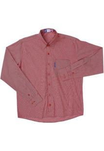 Camisa Masculina Rodeo Western - Masculino-Vermelho