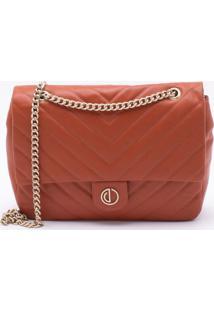 Bolsa Shoulder Bag Couro Ferrugem - M
