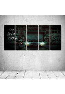 Quadro Decorativo - Car Urban Black - Composto De 5 Quadros
