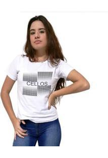 Camiseta Cellos Degradê Premium Feminina - Feminino-Branco