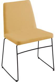 Cadeira Paris Aço T1132 Linho Amarelo Daf