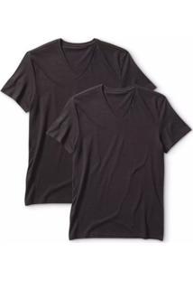 Camiseta 2 Pack V (2 Unid.) Levis Lb0020007 - Masculino-Preto