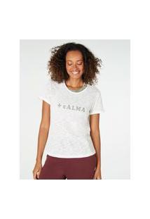 Amaro Feminino Yogini Camiseta + Calma, Off-White