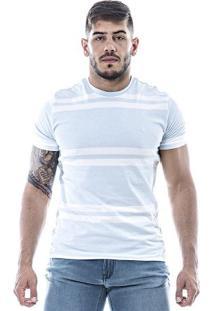 Camiseta Masculina Highstil Azul/ Branco
