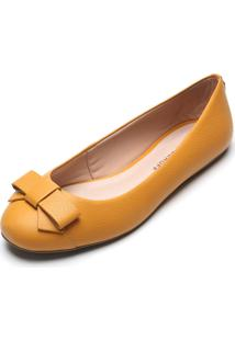 Sapatilha Couro Jorge Bischoff Laã§O Amarela - Amarelo - Feminino - Dafiti