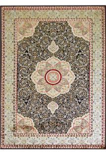 Tapete Mashhad Retangular Veludo 48X90 Cm Preto