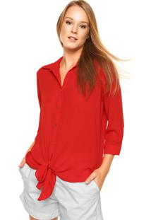 Camisa Dafiti Unique Nó Vermelha