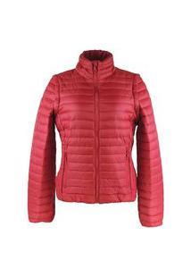 Jaqueta Feminina 2 Em 1 (Jaqueta E Colete) De Pluma Ultralight Alpine - Aurora Red