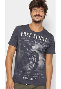 Camiseta Kohmar Free Spirit Masculina - Masculino-Azul Escuro
