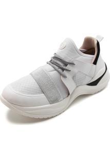 Tênis Dad Sneaker Chunky Bebecê Bicolor Tira Cinza