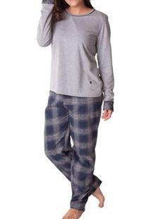 Pijama Feminino Podiun 215131 Mescla