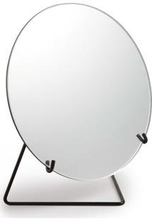 Espelho Com Suporte Metal Preto Mart Collection