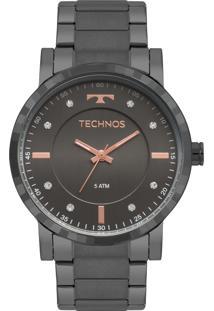 Eclock. Relógio Aço Dobrável Analógico Feminino Technos ... 2e79cc4689