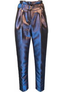 Karl Lagerfeld Calça Cenoura Furta-Cor - Azul
