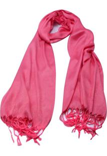 Pashmina Smm Acessórios Glitter Rosa