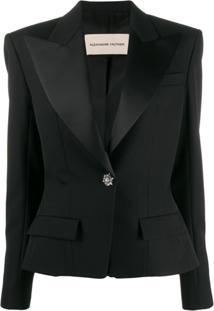Alexandre Vauthier Fitted Tuxedo Jacket - Preto
