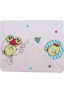 Toalha De Banho Feminina Com Capuzstampada Ursa E Coelha - Feminino-Rosa