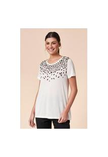 T-Shirt Tvz Leopardo Silk Bordado