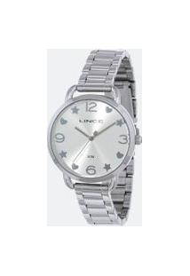 Kit Relógio Feminino Lince Lrmh126L-Kx21S2Sx Analógico 5Atm + Conjunto Semijóia   Lince   Prata   U