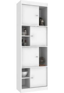 Estante Para Livros 4 Portas Ho-2926 Branco - Hecol