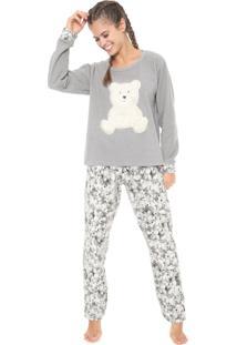 Pijama Pzama Ursos Cinza