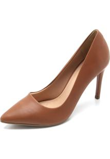 Scarpin Dafiti Shoes Liso Marrom
