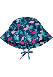 Chapéu Banho Iplay Flamingo Azul