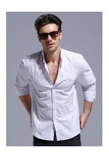 Camisa Masculina Texturizada Z093 - Branca