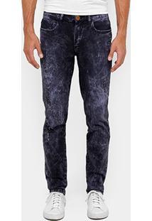 Calça Jeans Skinny Cavalera Destroyed Estonada Masculina - Masculino