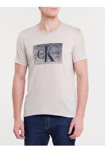 Camiseta Ckj Mc Re Issue Devore - Mescla - Pp
