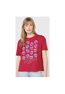 Camiseta Oh, Boy! Never Stop Singing Vermelha