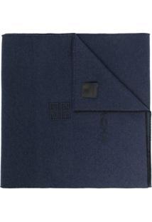 Givenchy Cachecol De Cashmere E Lã Com Logo 4G - Azul