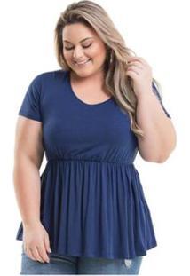 1364e0132 R$ 68,89. Zattini Bata Viscolycra Miss Masy Plus Size - Feminino-Azul