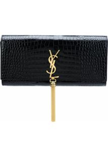 Saint Laurent Clutch 'Kate' Com Tassel - Preto