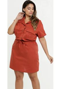 Vestido Feminino Bolsos Plus Size Marisa